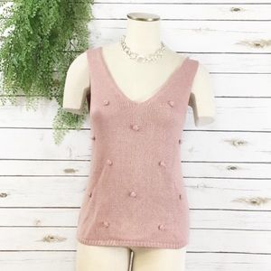 day to day dusty pink sweater tank M
